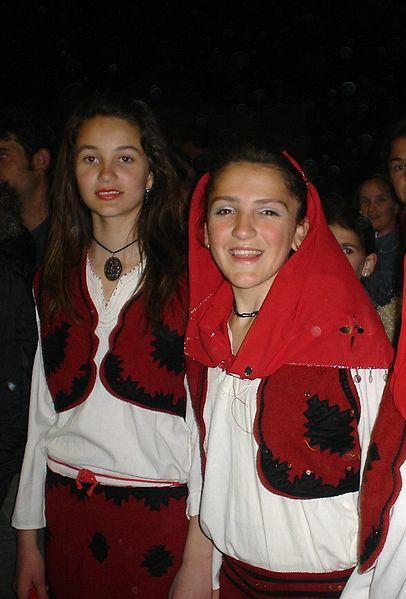 Folk costumes still worn Europe albania girls 2
