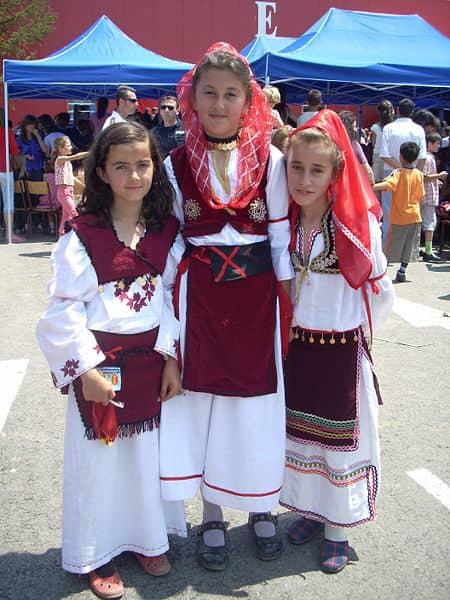 Folk costumes still worn Europe albania girls