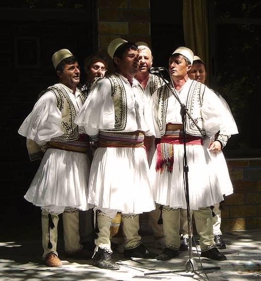 Folk costumes still worn Europe albania men