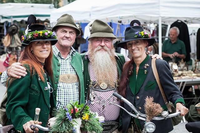 Folk costumes still worn Europe bad goisern austria