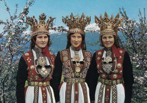 Folk costumes still worn Europe norway brides 1970s