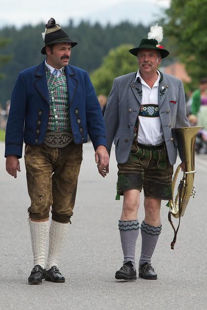Folk costumes still worn Europe shoffau bavaria