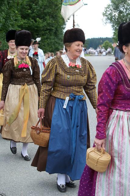 Folk costumes still worn Europe shoffau bavaria5