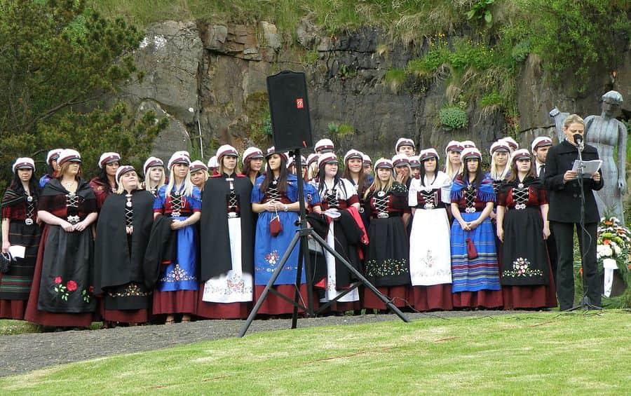 european countries still use traditional clothes denmark faroe students memorial 1