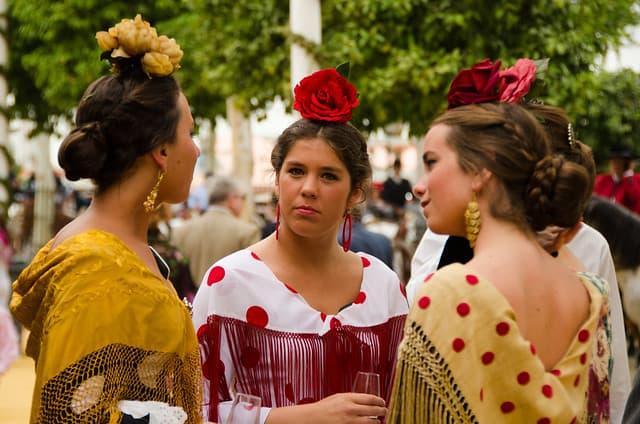 european countries still use traditional clothes spain sevilla fair