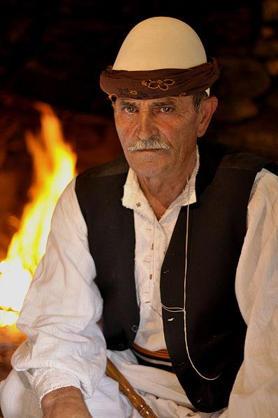 Folk costumes still worn Europe albania man hat 1