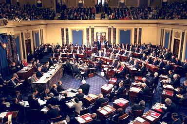 Inside of the Senate.