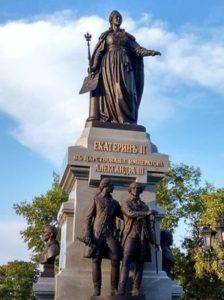 Bronze statue in a park