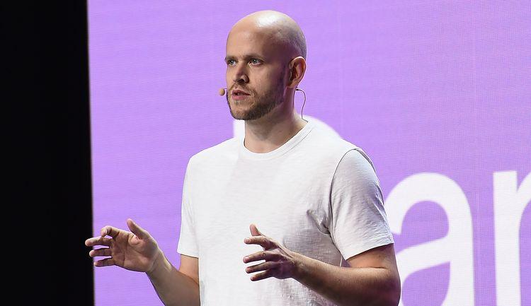A man talking on a stage