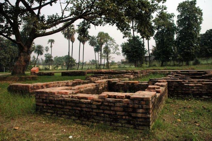 Brick ruins of a city