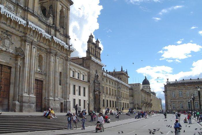 A city square