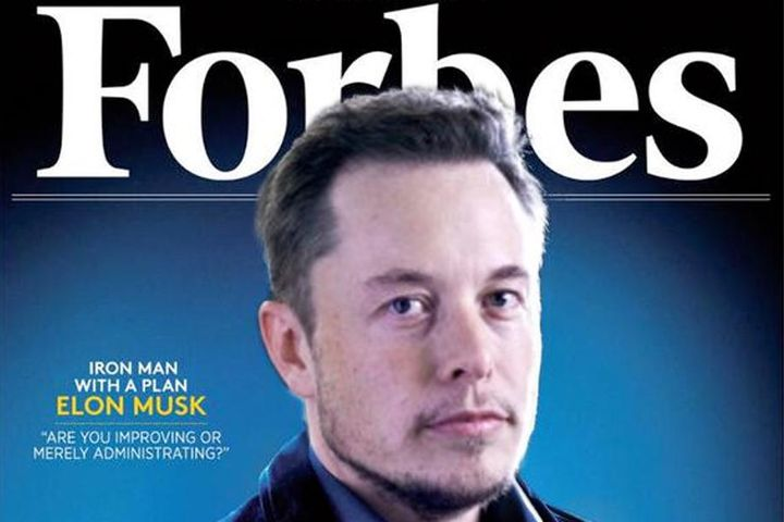 Elon Musk on the cover of Forbes magazine.