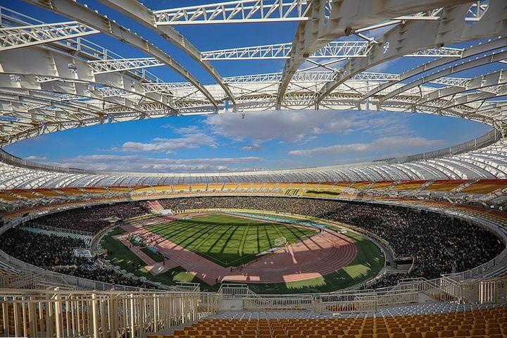 A well-designed, modern soccer stadium