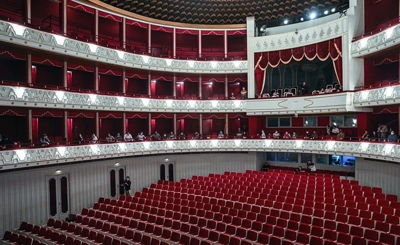 Inside of an elegant theatre