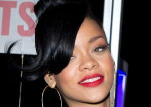 Picture of Rihanna wearing a black blazer