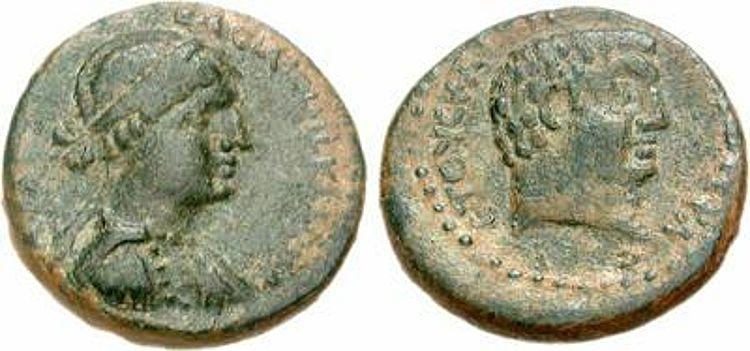 cleopatra coins antony minted chalcis syria 32 31 bc 2 rd