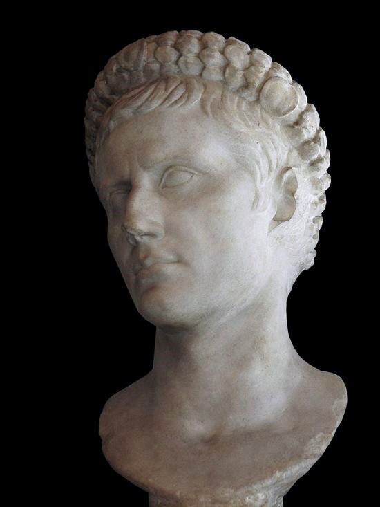 Same bust, another angle. The overall impression is of beauty. He is a handsome man. Not as virile as Antony or Agrippa by far, but less delicate-looking than Julius Caesar. He is not as striking as Sulla, either. Octavian's is a calmer beauty. Both the faces of Caesar and Octavian have an elegance to them.
