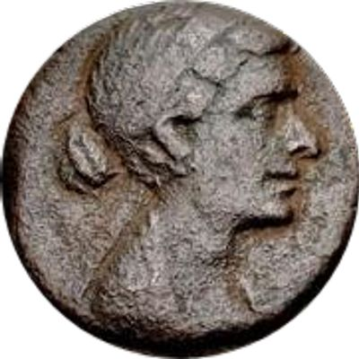 Similar coin. She looks slightly different. Her nose is still aquiline but is more rounded at the tip.