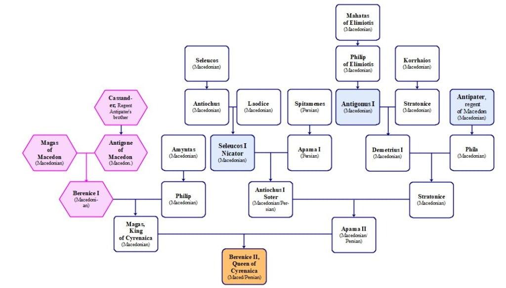 cleopatras ancestry family tree berenice ii cyrene b