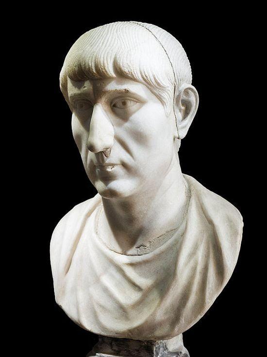 roman emperors looks maybe constantius ii marble 1 1