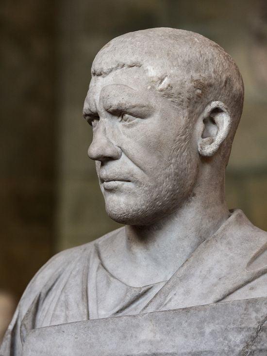 roman emperors looks philip the arab marble bust hermitage 4 1 1