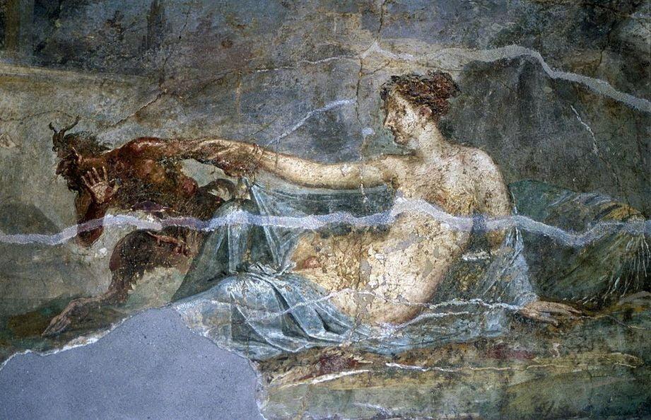 pompeii frescoes Casa dei Dioscuri pan hermaphroditus 1