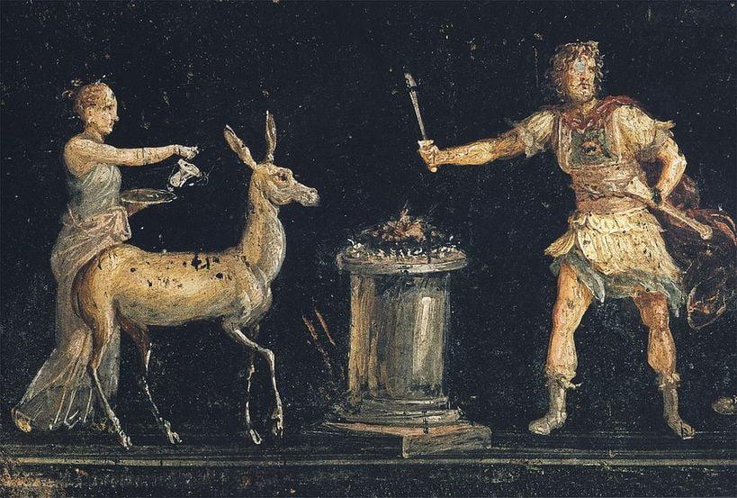 pompeii frescoes Casa dei Vettii sacrifice for diana 1 1