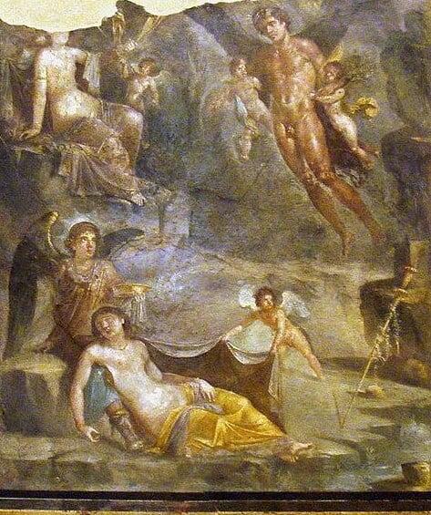 pompeii frescoes Casa del Naviglio wedding of zephyrus 2 1 e1616968817500