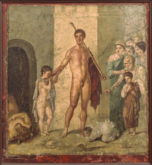 pompeii frescoes House Gavius Rufus theseus liberator 1