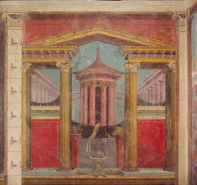 pompeii frescoes house fammius synistor boscoreale round temple 1 1 1