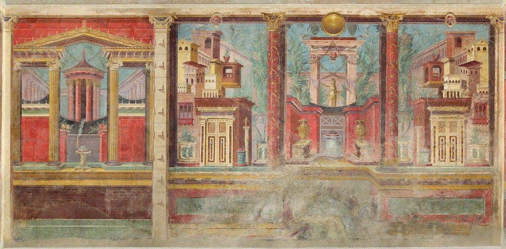 pompeii frescoes house fammius synistor boscoreale wall 1 1 1