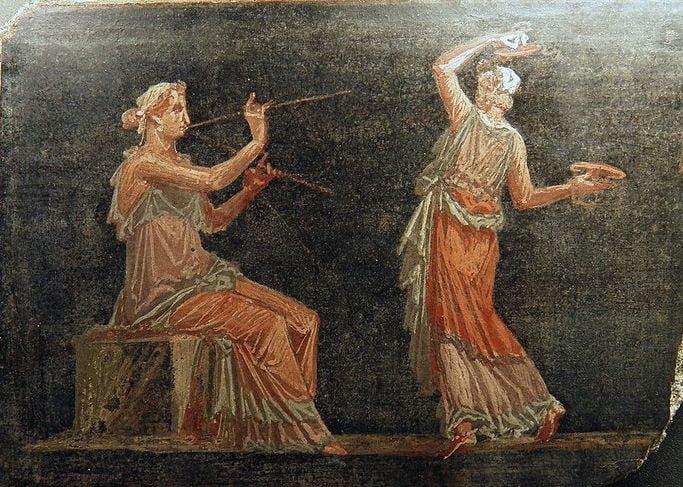 pompeii frescoes theatre heculaneum 1 1
