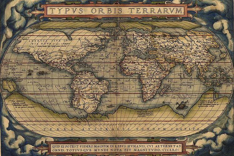 ancient maps world ortelius flemish 1570 2 1