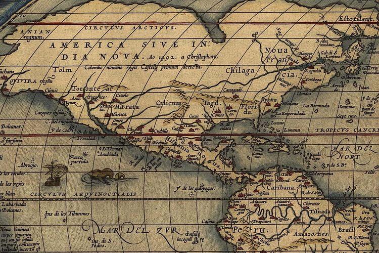 ancient maps world ortelius flemish 1570 3 1
