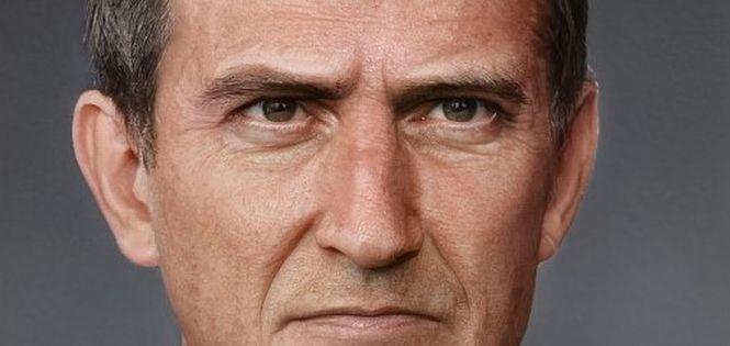 Close-up. Face of a man.