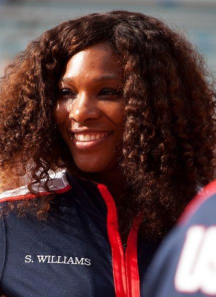 A close-up of Serena smiling.